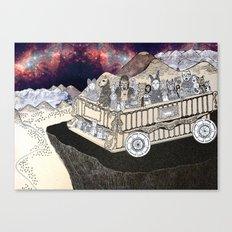 Animals on a Wagon Canvas Print