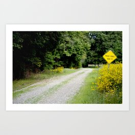 Where the road ends Art Print