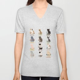 Cats Breed Unisex V-Neck