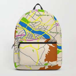 Seoul map Design Backpack