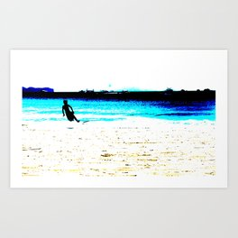 Surf Beach Art Print