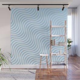Whisker Pattern - Light Blue & White #285 Wall Mural