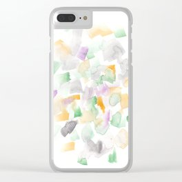 180713 Abstract Purple Yellow Decor 10| Watercolor Brush Strokes Clear iPhone Case
