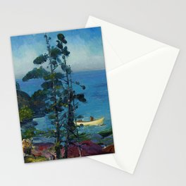 """George Wesley Bellows """"Evening Blue (Tending the Lobster Traps. Early morning)"""" Stationery Cards"""