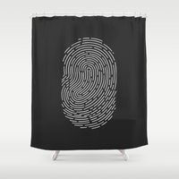 wwe Shower Curtains featuring Fingerprint by eARTh