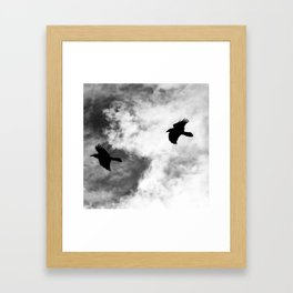 Raven in the Clouds Framed Art Print