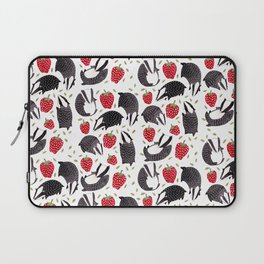 Badgers and Strawberries Laptop Sleeve