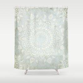 Powder Blue Mandala Shower Curtain