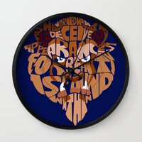 beast Wall Clocks featuring beast by Rebecca McGoran