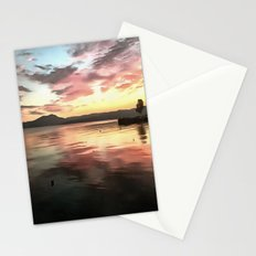 Sunset Reflected On Water Stationery Cards