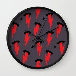 Red Boltz Wall Clock