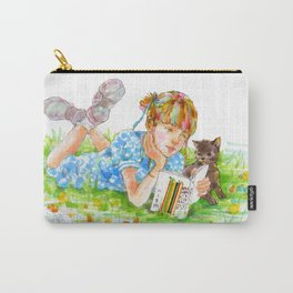 A girl with a kitten vol. 5 Carry-All Pouch