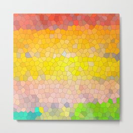 Abstract Spring image of stained glass mosaic pieces Metal Print