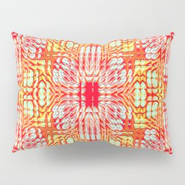 "series ""Stained glass"" - red and yellow Pillow Sham"
