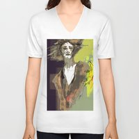 sandman V-neck T-shirts featuring the sandman by thimblings