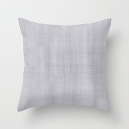Pantone Lilac Gray Dry Brush Strokes Texture Pattern Throw Pillow