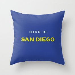 Made in San Diego Throw Pillow