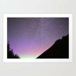 Colors of the Night Sky - Colchuck Lake, Washington State Art Print