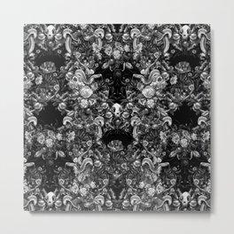 Snakes & Skulls : Gothic Monochrome Metal Print