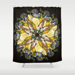 Flemish Floral Mandala 5 Shower Curtain