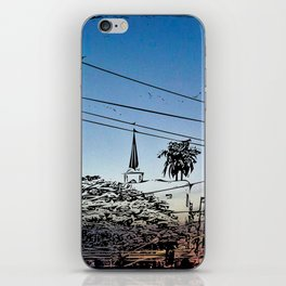 over smal trown the sunset iPhone Skin