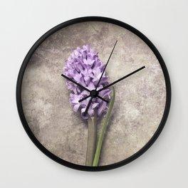 Light Purple Hyacinth Wall Clock