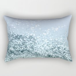 Light Seafoam Light Blue Glitter #1 #shiny #decor #art #society6 Rectangular Pillow