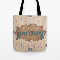 journey Tote Bags featuring Journey by Skuishy