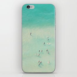 beach summer waves iPhone Skin