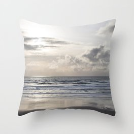 Silver Scene ~ Paint Daubs Effect Throw Pillow