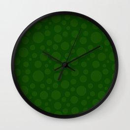 Polka Dot Plot: Hunter Green Wall Clock