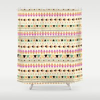 indie Shower Curtains featuring INDIE SUMMER by Nika