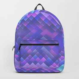 Indigo Violet Bright Squares Pattern Backpack