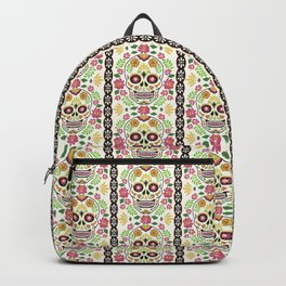 Mexican Folk Sugar Skull and Roses Backpack