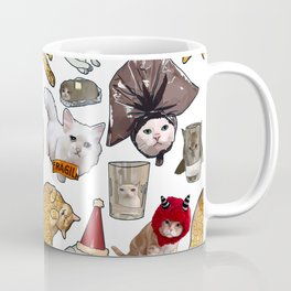 Crazy Cats Funny Meme Repeating Pattern Coffee Mug