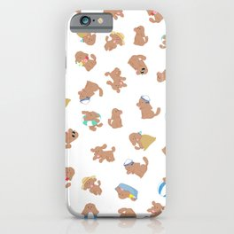cute dog makkachin yuri on ice pattern iPhone Case