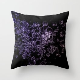 THE DEATH OF A SKULL Throw Pillow