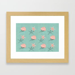 Conch & Starfish Framed Art Print