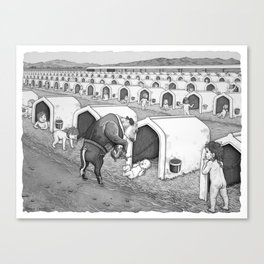Dairy Baby Housing Canvas Print