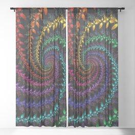 Rainbow Spin Sheer Curtain
