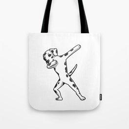 Funny Dabbing Dalmatian Dog Dab Dance Tote Bag
