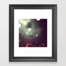 Bokeh @ Night Framed Art Print