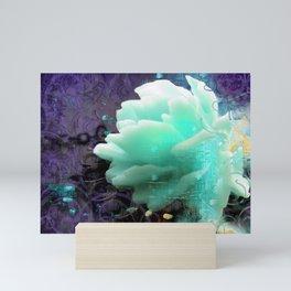 Aqua Rose Mini Art Print