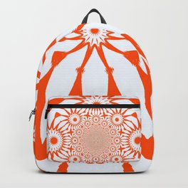 The Modern Flower White & Orange Backpack