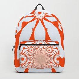 The Modern Flower White & Orange Backpack