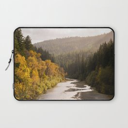 Humboldt County Fall Colors, Autumn Decor, Redwoods, Avenue of the Giants California Photography  Laptop Sleeve