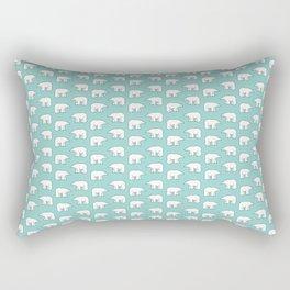 Mint Polar Bears Rectangular Pillow