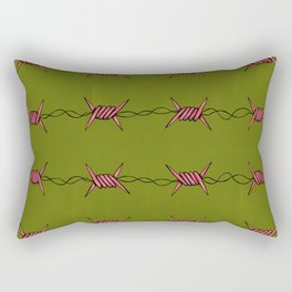 barbed wire (pink and green) Rectangular Pillow