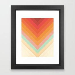 Rainbow Chevrons Framed Art Print