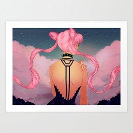 Black Lady / Chibiusa Art Print